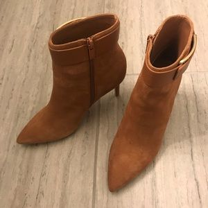 Calvin Klein Georgene leather booties size 6.5 NEW